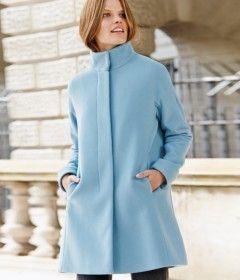 Cashmere Blend Swing Coat