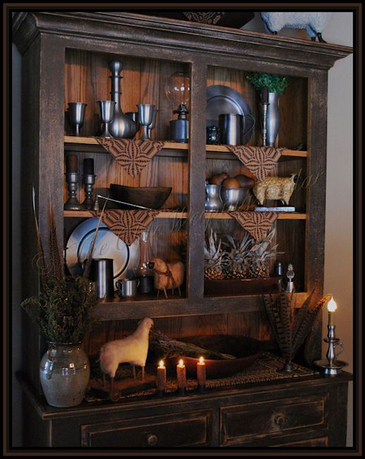 Best 25+ Primitive hutch ideas on Pinterest | Red hutch ...