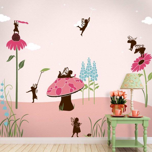 Kinderzimmer Gestalten Beispiele | Wandmalerei Kinderzimmer Madchenzimmer Babyzimmer Kinderzimmer
