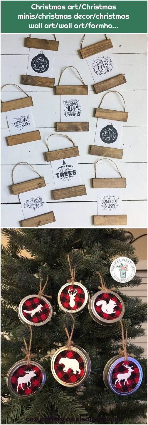 1. Buffalo Plaid Ornaments, Woodland Ornaments, Mason Jar Lid Ornaments, Mason Jar … Christmas art/Christmas minis/christmas decor/christmas wall art/wall art/farmhouse…  , #ArtChristmas, #Artfarmho, #Artwall, #Buffalo, #Christmas, #Decorchristmas, #Jar, #Lid, #Mason, #Minischristmas, #Ornaments, #Plaid, #Wall, #Woodland