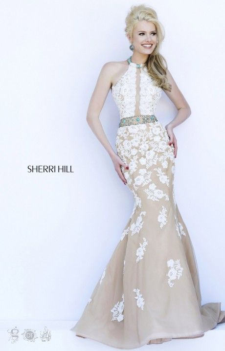 Sherri Hill 32227 | Prom | Pinterest | Lace embroidery, Classic ...