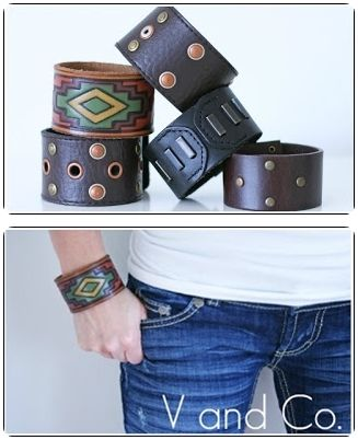 How To make a leather cuff from a belt