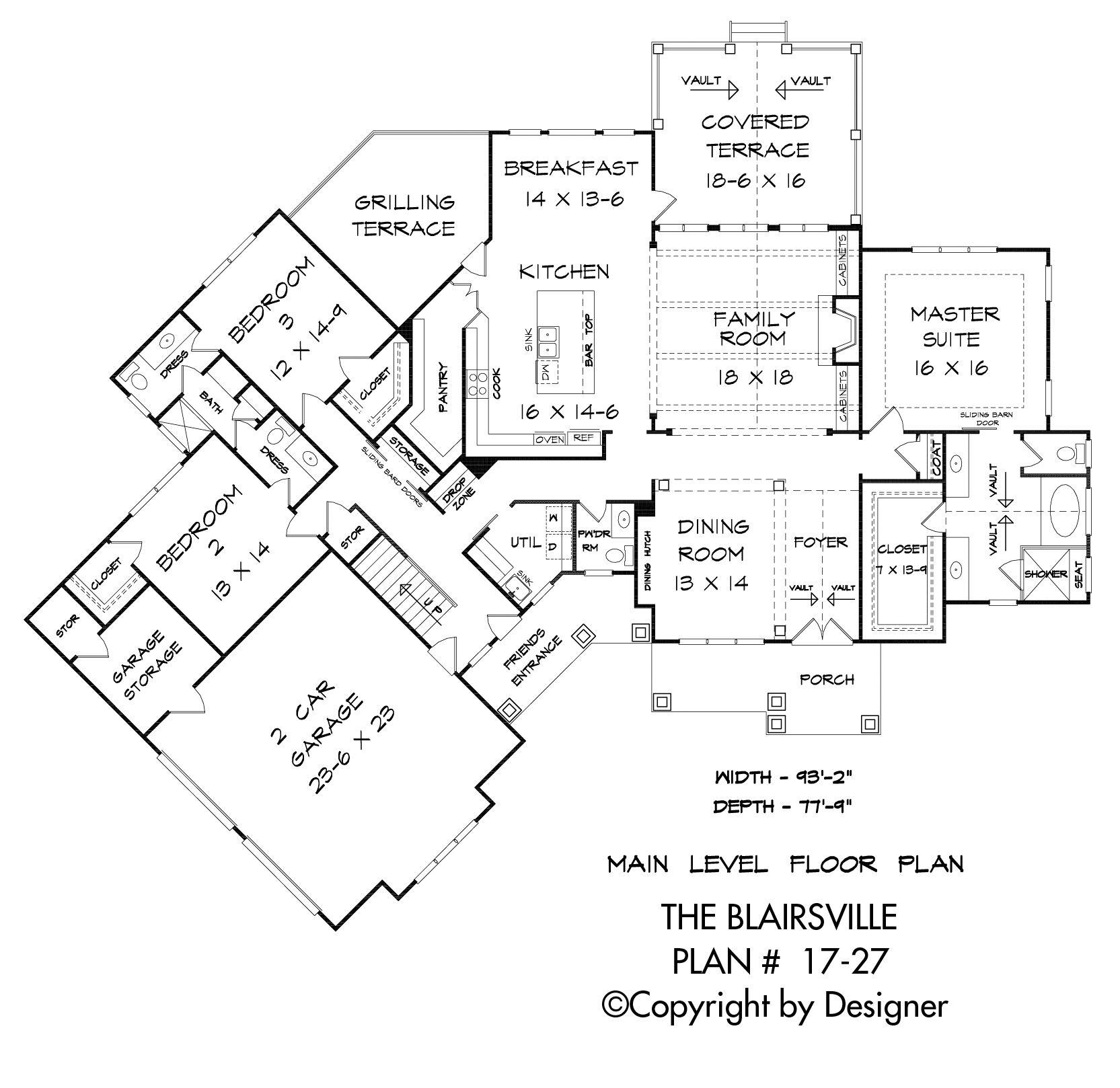 Blairsville House Plan 17 27 Kt Garrell Associates Inc Craftsman House Plan How To Plan Floor Plans