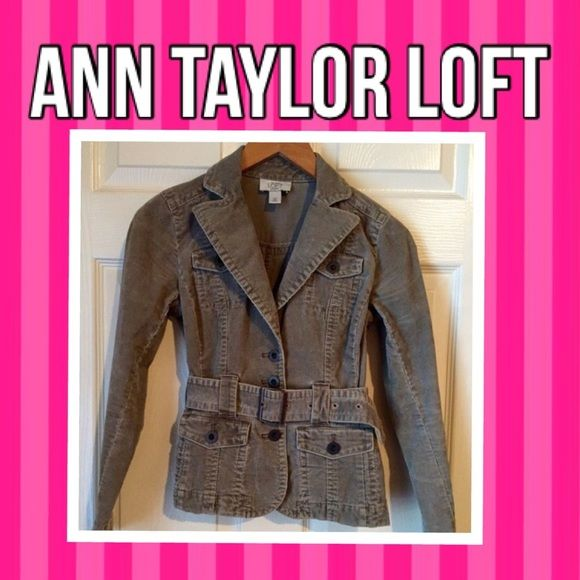 "ANN TAYLOR LOFT fall jacket Here I have is a stylish and nice fall Army green belted button front jacket size 00P from ""ANN TAYLOR LOFT (Petites), this jacket will look cute with a cute pair of jeans, boots & favorite scarf ..this jacket will come free of any stains, rips or fades!Will only consider REASONABLE offersBUNDLE to save 15% on 3+ on my clothing items & pay 1 shipping cost❌NO TRADES❌Thank You Ann Taylor Jackets & Coats Jean Jackets"