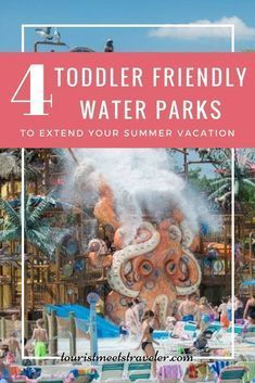 Take advantage of off-peak prices and enjoy these 4 toddler-friendly water parks to extend your summer vacation #flight #travel hotel #travel restaurant #destinations #beauty #hacks #hair #style #summervacationstyle