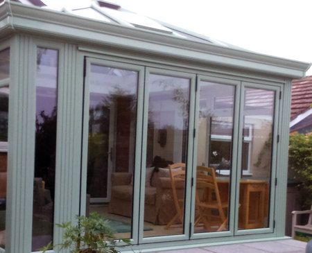 Chartwell green 4 panel upvc bifold door | Cons | Pinterest | Upvc ...