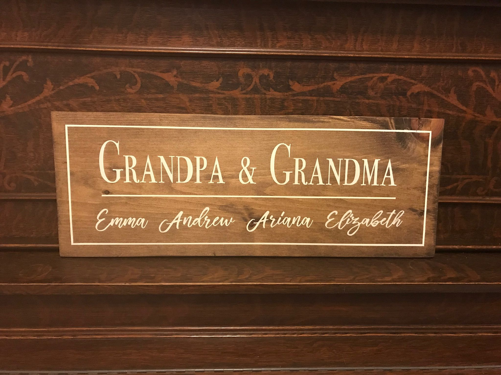 12h X 24w Provincial Stain By Minwax Grandparents Grandchildren
