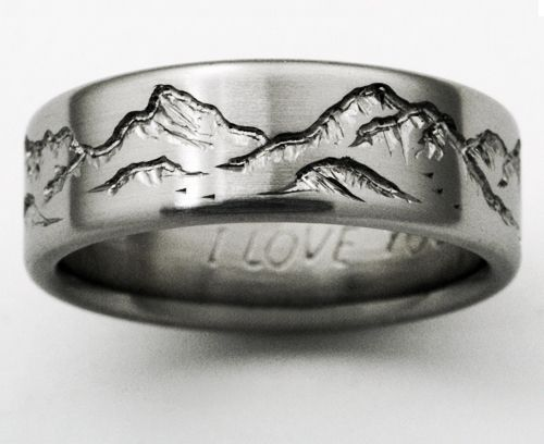 Spectacular Titanium Wedding Ring by Exotica Jewelry