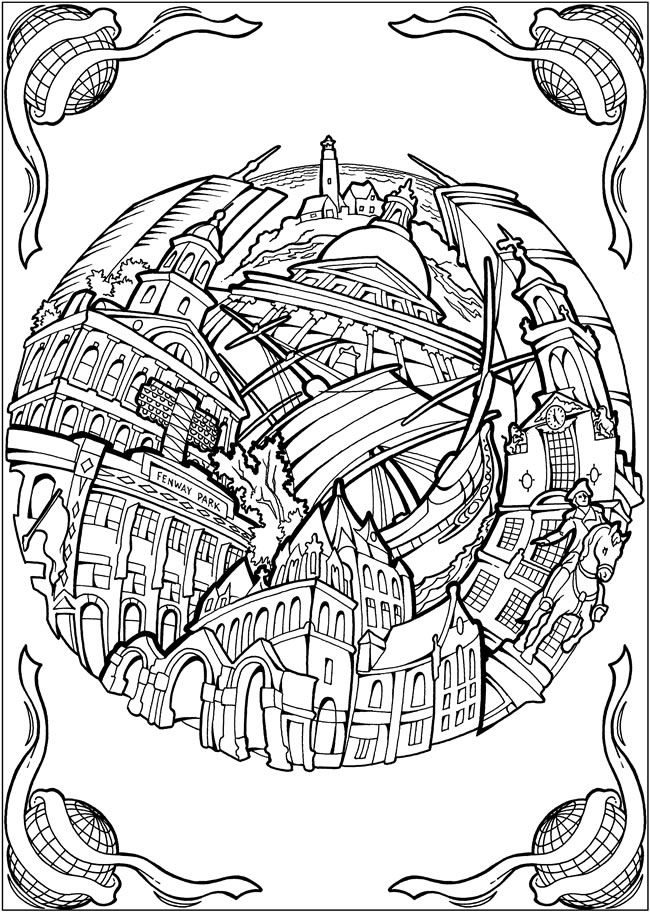 Bliss cities coloring book your passport to calm by for Coloring pages bliss