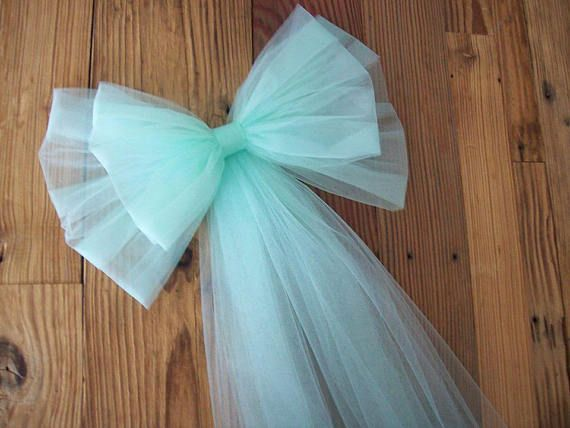Tulle Pew Bow, OVER 30 COLORS, Church Pew, Tulle Pew Bow, CUSTOM Brooch, Quinceanera Decorations, Formal Wedding, Aisle Decor, Communion