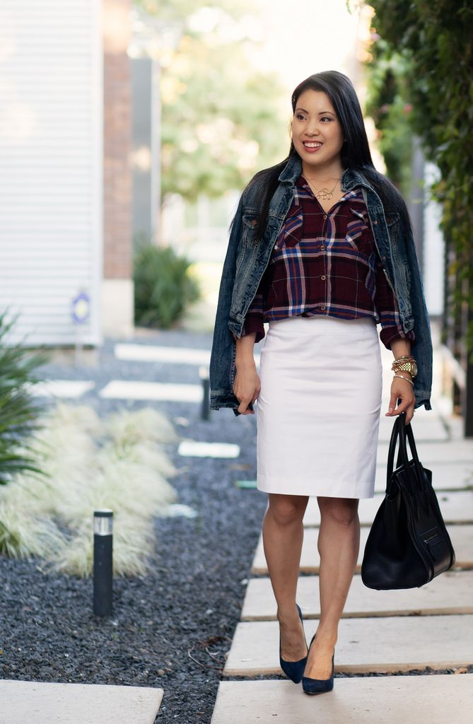 What To Wear With A White Denim Skirt - Dress Ala