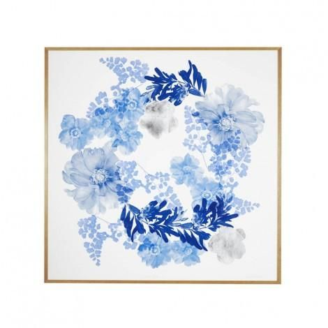 Bonnie and Neil Large Blue Floral Framed Print | Bonnie and Neil – Salt Living or online at www.saltliving.com.au #saltliving #bonnieandneil #screenprinting #linen #print