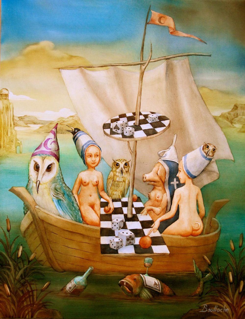 Cote Artiste Peintre Francais agnes boulloche, galerie sakah toulouse, peintre   whimsical