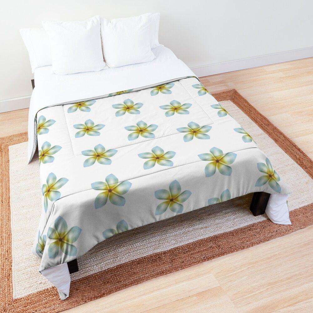 'White beautiful flower' Comforter by Oxanashekh en 2020