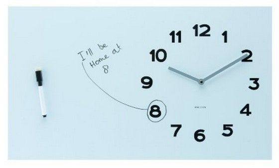 Karlsson Wall Clock Pure White Board Clock Wall Pure Products