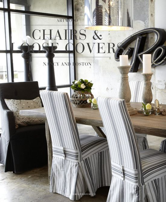 Slipcovered Dining Chairs Farmhouse Table