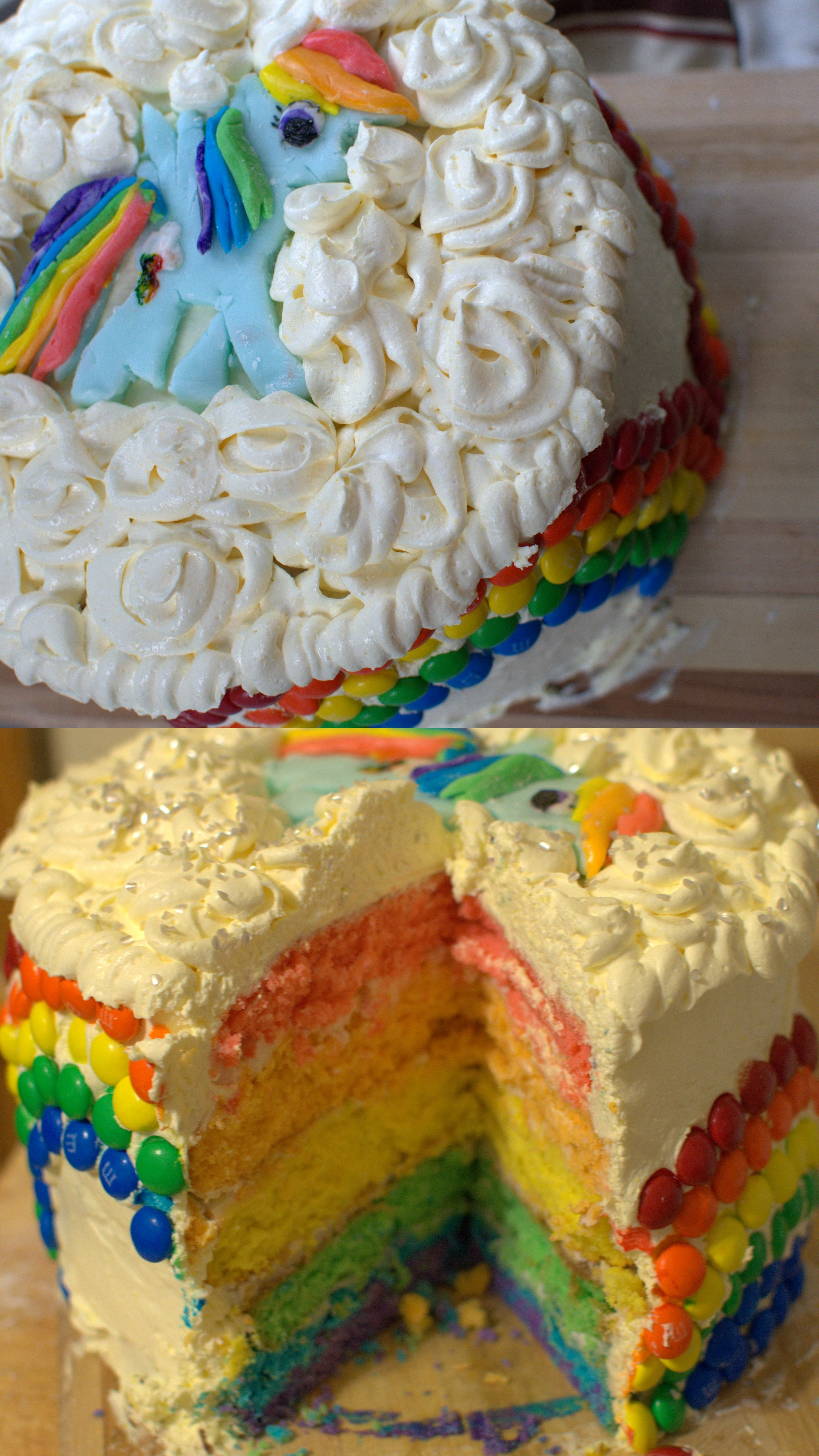 Rainbow Dash Cake by me Jenn Schaller for my CallaBug's 5th Birthday..as promised Mama Delivered. #mylittlepony #rainbowdash