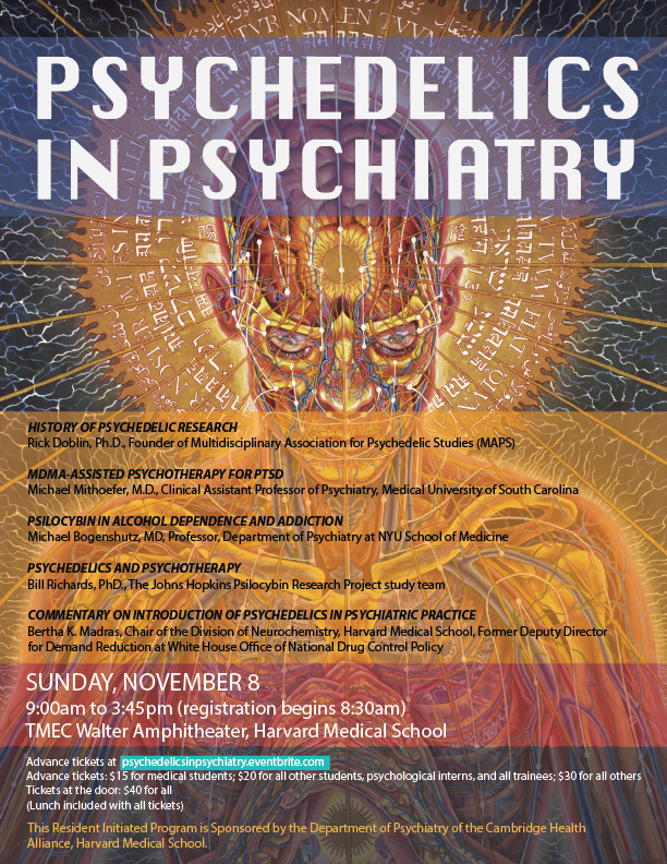 Psychedelics in Psychiatry is an upcoming event at Harvard Medical