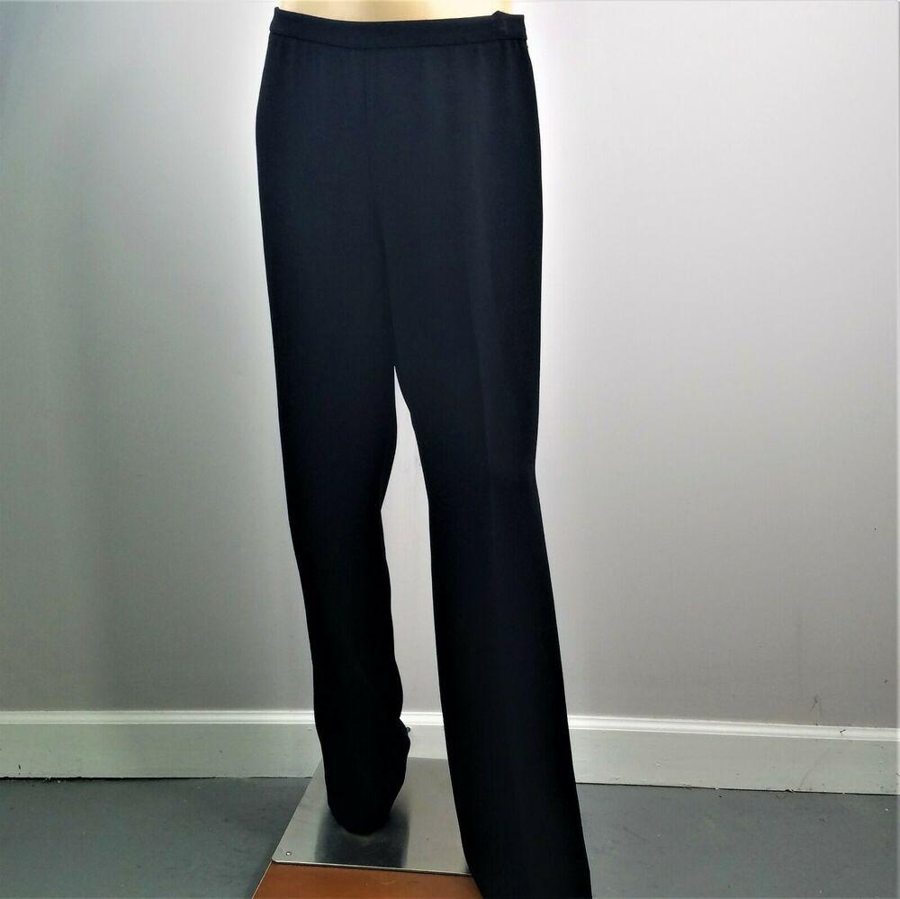 Ellen Tracy Dress Pants Career Black Wide Leg Made In Usa Womens Sz 10 Inseam 33 Ellentracy Bootcut Ellen Tracy Dress Wide Leg Dress Pants Blue Shirt Women [ 999 x 1000 Pixel ]