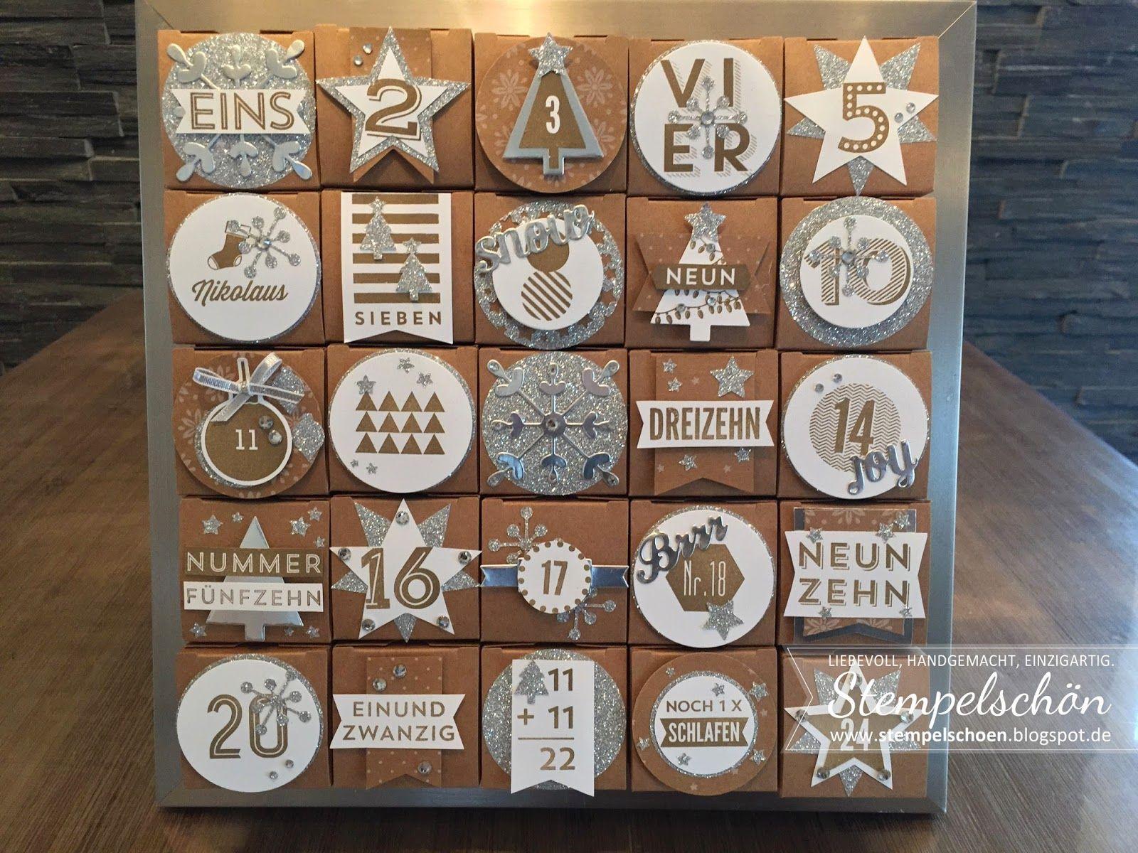 stempelsch n stampin up adventskalender 24 t rchen stampin up adventskalender pinterest. Black Bedroom Furniture Sets. Home Design Ideas