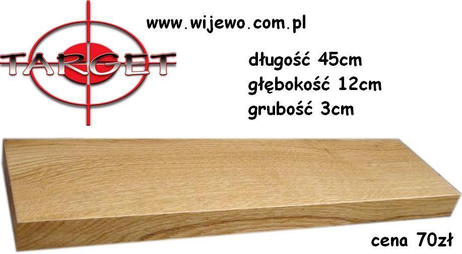 Półka Dębowa Drewniana Niewidoczne Mocowania 90kol Last