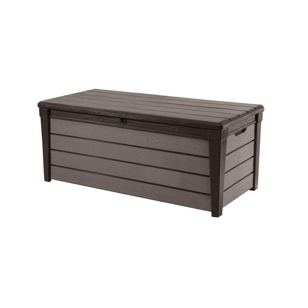 Keter Brushwood 120 Gal. Resin Deck Box227011 Outdoor