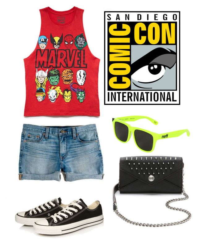 Comic con by lj-case on Polyvore featuring polyvore, fashion, style, Forever 21, Converse, Rebecca Minkoff, Neff, J.Crew and clothing