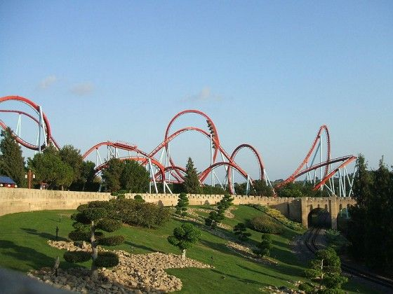 Looping Theme Parks Rides Amusement Park Rides Thrill Ride