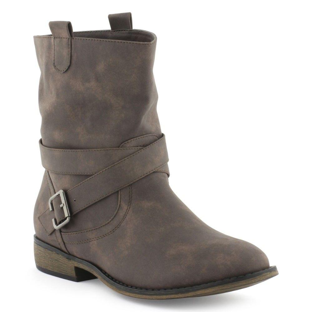 afcca90c botin plano lh by la halle en merkal.com   Zapatos   Zapatos, Botas ...