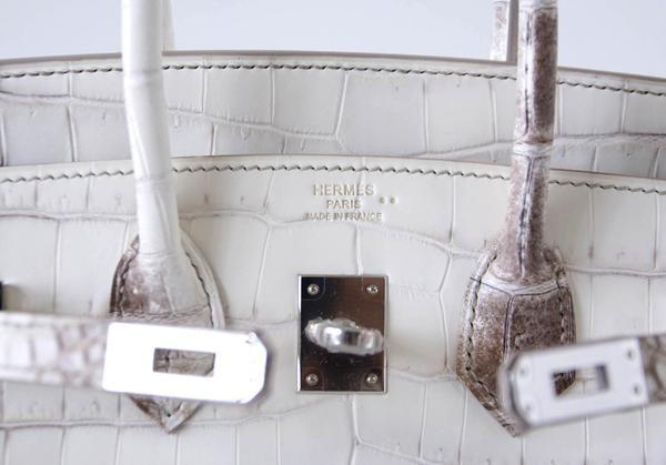8dccaf592b1e Hermes Birkin 25 Bag Blanc Himalaya Exquisite Jewel Palladium ...