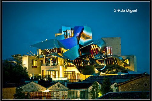 Vista del hotel diseñado para las Bodegas Marques de Riscal por el arquitecto Frank Gehry tambien diseñador del Museo Guggenheim de Bilbao   The hotel is the ideal spot for yoga vacations in Nicaragua. - http://www.casaluciagranada.com/