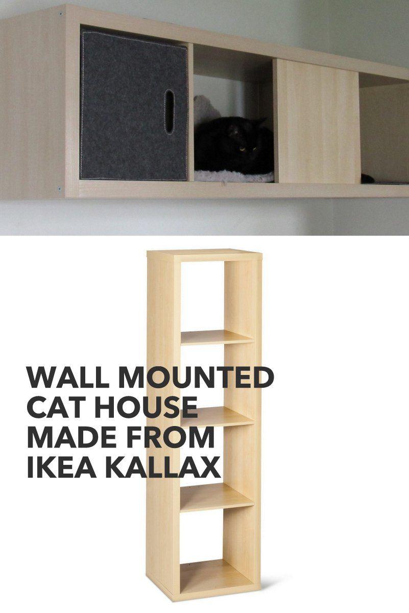 Wall Mounted Kallax Cat House Ikea Hacks For Pets Cat Wall