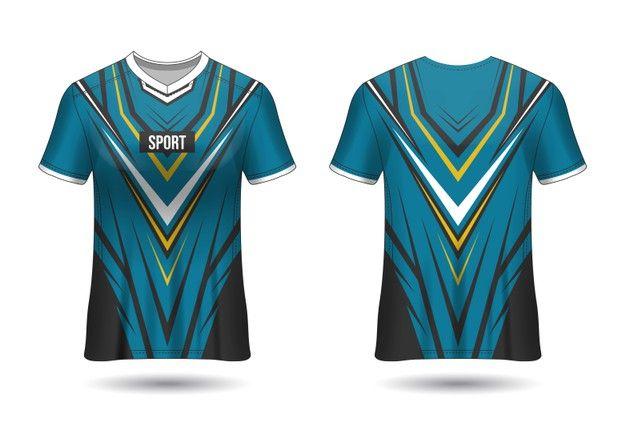 Download Sports Jersey Design Template For Team U Premium Vector Freepik Vector In 2020 Jersey Design Sports Jersey Design Design Template