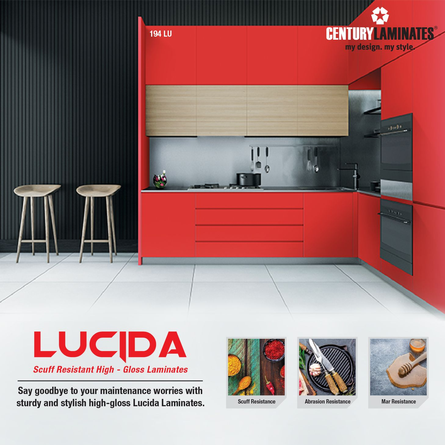 Scuff Resistant Hi Gloss Laminates To Add That Oomph And Glamour To Your Kitchen Lucida Laminates Are Hi Gloss Laminates Avai Laminates Laminate Sheets Decor