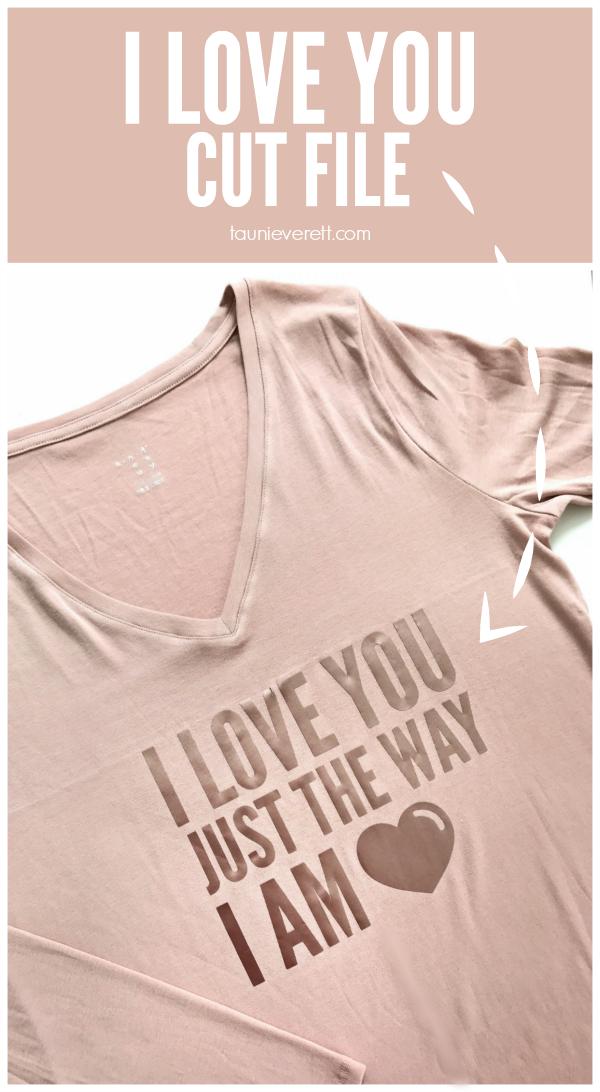 I Love You Cut File Free Instant Download #love #valentine #valentinestshirt #valentinecutfile #cricut #silhouette