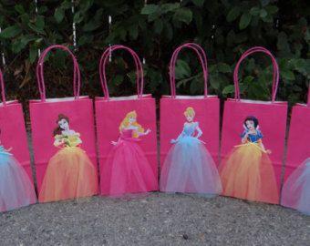 Disney princesas 6 bolsas favor fiesta de por - Fiestas de cumpleanos de princesas ...
