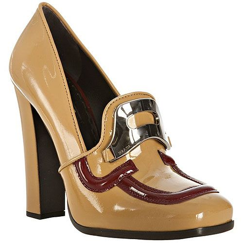 Prada Leather Loafer Pumps explore for sale iNCGG
