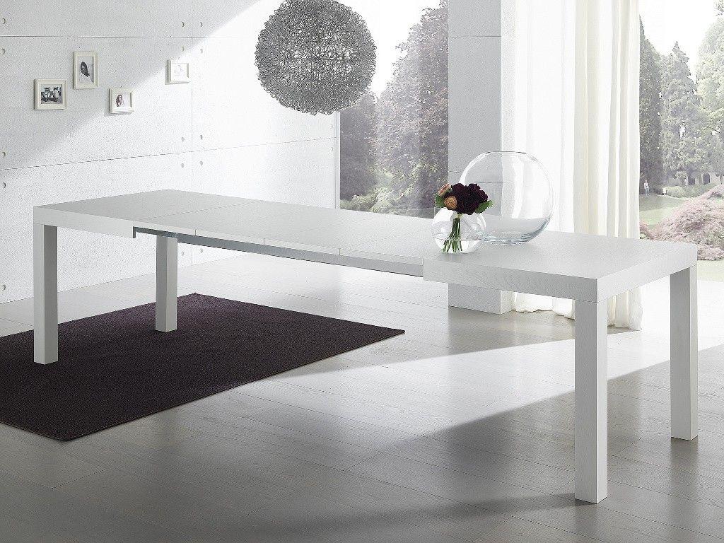 Tavolo da pranzo allungabile bianco Midnight | Tavoli da pranzo ...