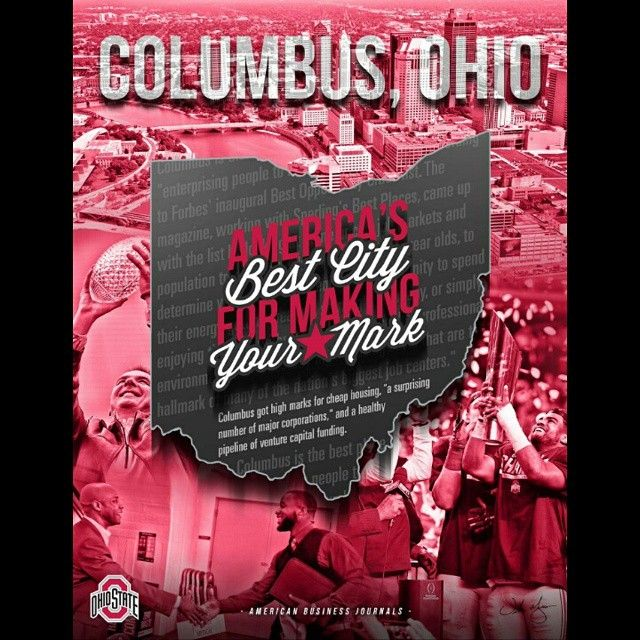 """Want to make a name for yourself? Then come to Columbus! #GoBucks :@sammysilv_"""