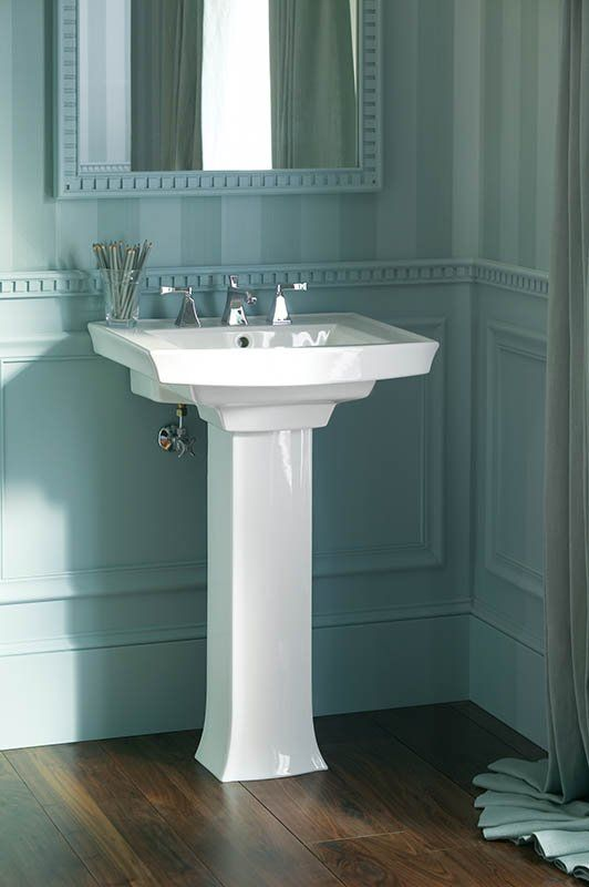 View The Kohler K 2359 8 24 Widespread Vitreous China Pedestal