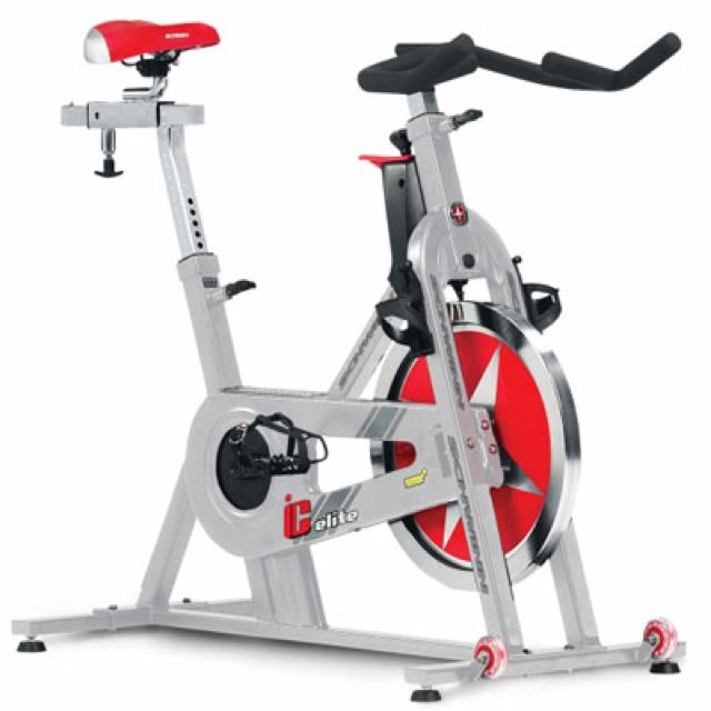 Black Red And Silver Spin Bike Biking Workout Indoor Cycling Bike Best Exercise Bike