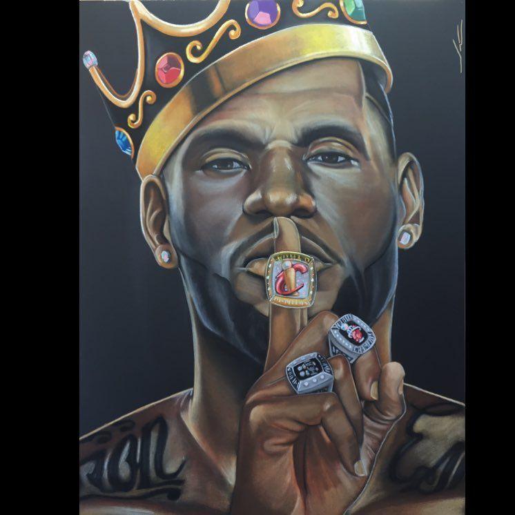 Pako Pablos NBA Edition: Lords of the Rings – LeBron James | Draws | Pinterest | NBA, Lebron ...