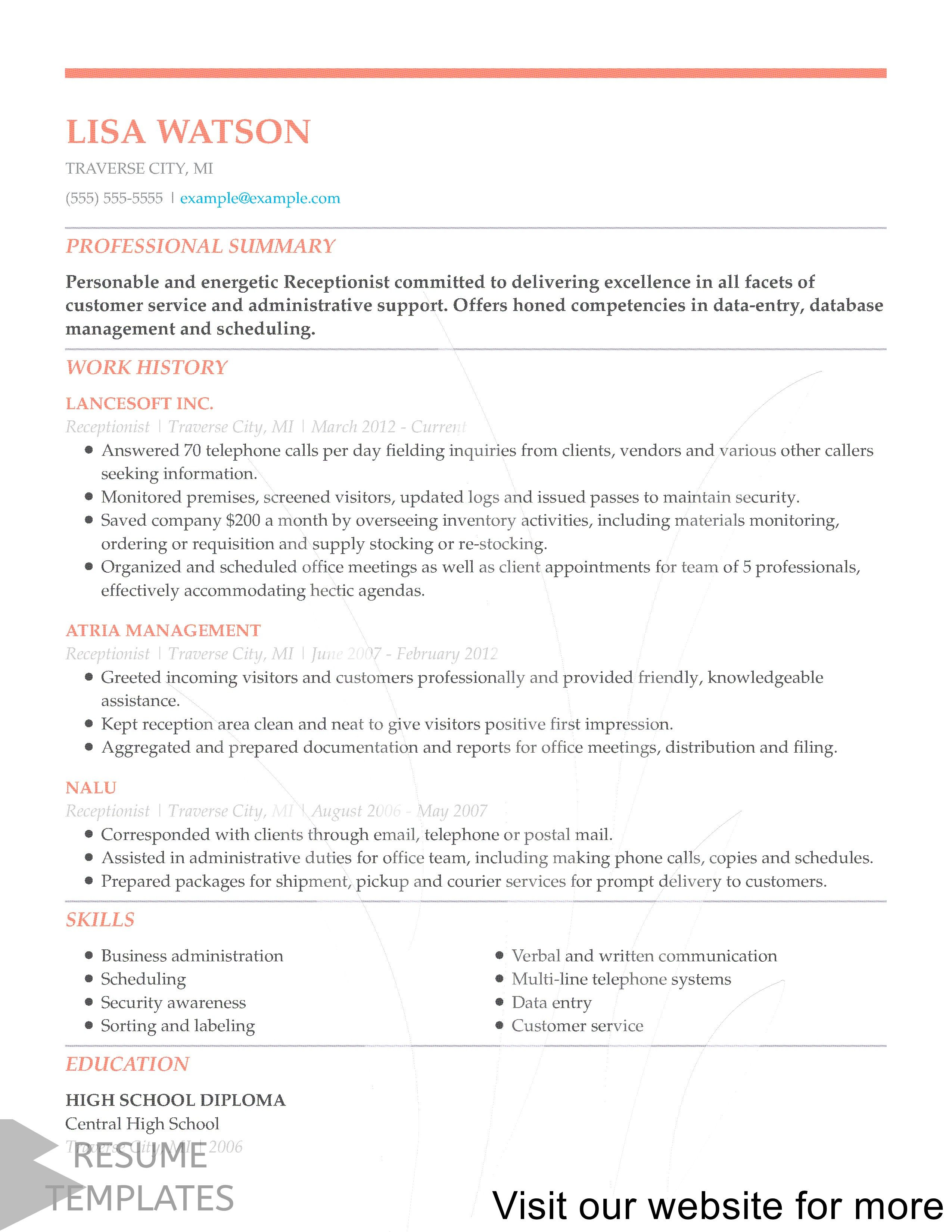 Resume Template Canada Professional In 2020 Resume Template Job