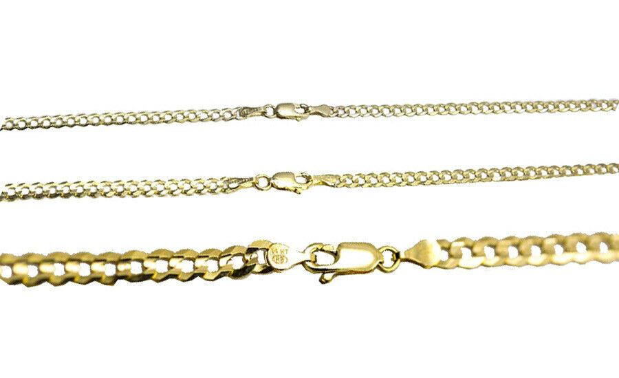 14k Gracious Yellow Gold 5 mm Cuban Link Chain Eternity Band Ring