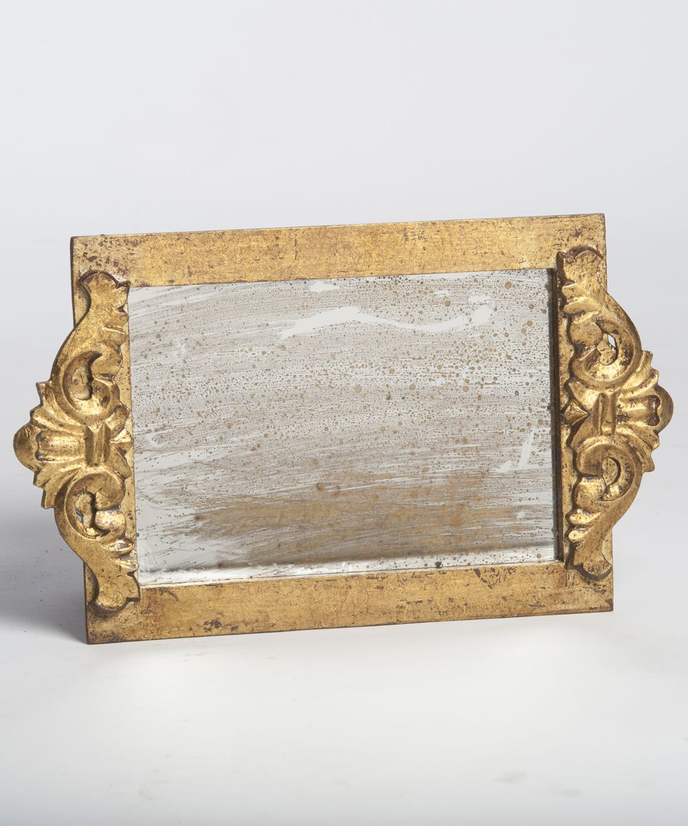 Gold Antique Mirror Vanity Tray Mirror vanity tray
