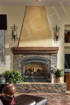 Stone For Gr Room Bianchi Ranch Traditional Family Room