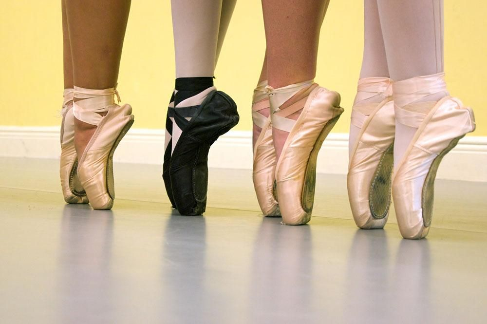 Satin Ballet Pointe Dance Shoes