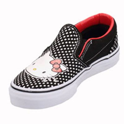 Vans VN-0QFB66Z Youth Classic Slip On Hello Kitty Black Red Shoe   44.99 ab4eac790