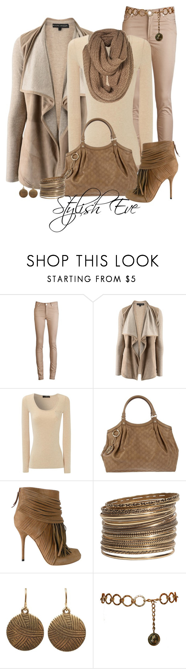 """""""aml"""" by stylish-eve ❤ liked on Polyvore featuring Acne Studios, Ralph Lauren, Jane Norman, Gucci and H&M"""