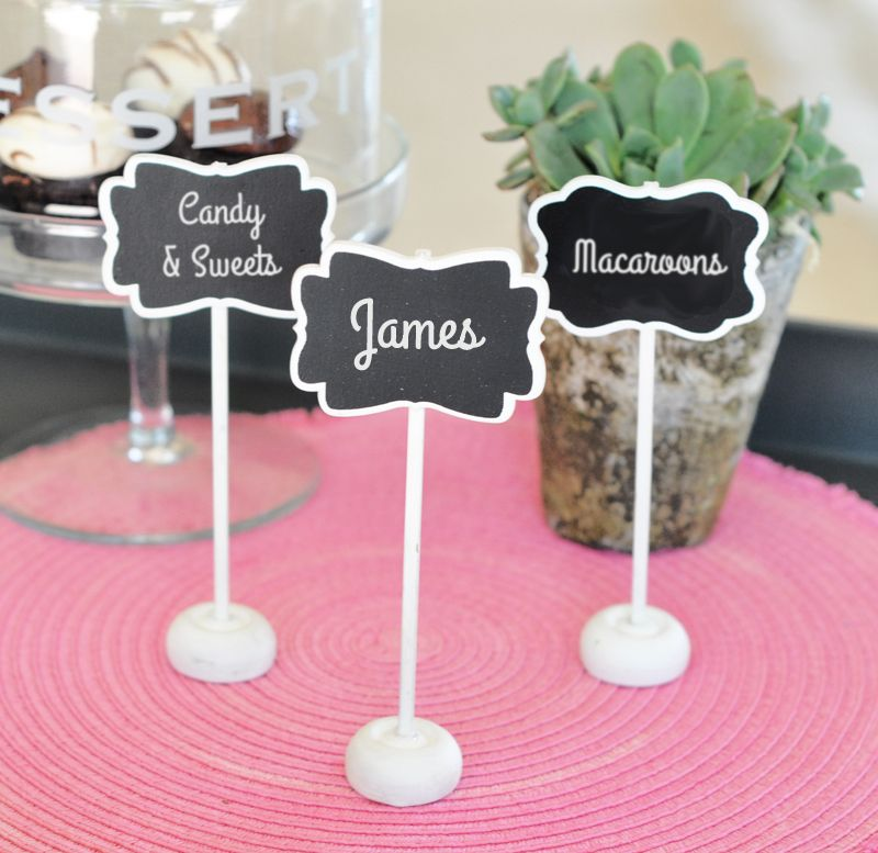 The Favors Boutique Framed Chalkboard Place Card Stands